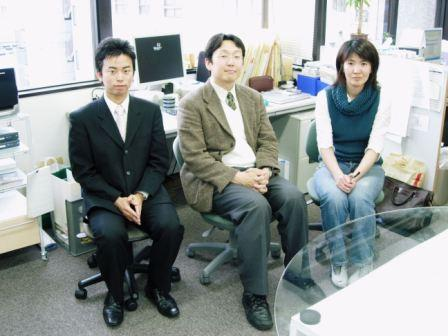 左:高田 中央:北條社長 右:奥様